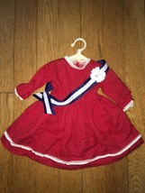 * Pleasant Company Addy's Patriotic Red Dress & blue Sash - American Girl doll - $183.15