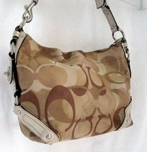 Preloved Coach Signature C Beige Tan Shoulder Bag Purse - $58.41
