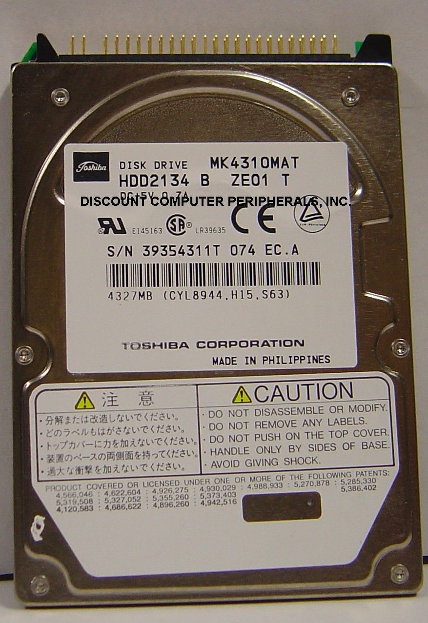 Rare Toshiba MK4310MAT HDD2134 4.3GB 2.5in IDE Drive Tested Free US Ship