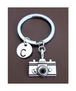 Camera keychain, Personalized Keychain, Camera Key ring, Monogram Initial  - $9.40