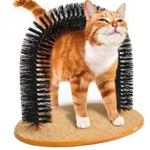 Cat Brush Plastic Scratching Round Self Groomer Cats Kittens Pet Arch Ru... - $16.73
