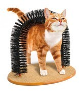 Cat Brush Plastic Scratching Round Self Groomer Cats Kittens Pet Arch Ru... - $22.19 CAD