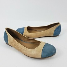 Cole Haan Shoe 7B Flat Leather Two Tone Tan Blue - $19.99