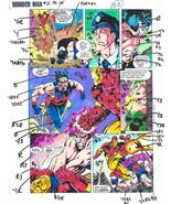 1991 Original Avengers Iron Man vs Wonder Man Marvel Comics color guide art page - $99.50