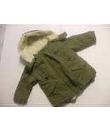 Toddlers 2 in 1 Winter Vest And Jacket With Hood Size 3 Green 100% Polye... - $24.75