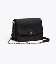 Tory Burch ROBINSON CONVERTIBLE SHOULDER BAG Black Authentic - $275.00