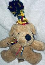 Dandre HAPPY BIRTHDAY TEDDY BEAR (dog) plush with hat - $14.84