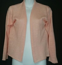 Eileen Fisher Cardigan Sweater S Small Lightweight Open Front Peach EUC - $49.49