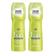 Ban Roll-On Antiperspirant Deodorant, Simply Clean, 3.5oz Pack of 2 - $15.78