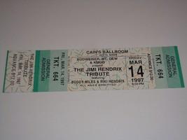 JIMI HENDRIX TRIBUTE BUDDY MILES RIKI UNUSED CONCERT TOUR TICKET CAIN'S ... - $12.86