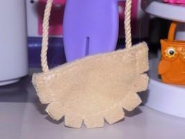 Barbie Dress up accessories soft tan cloth shoulder bag hand bag purse - $1.99