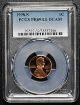 1998S 1¢  Lincoln Cent Proof PCGS PR69DCAM Coin SKU C109