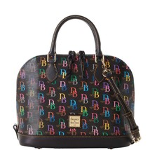 Dooney & Bourke 1975 Signature Zip Zip Satchel Black