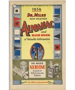 ORIGINAL Vintage 1934 Dr Miles New Weather Almanac and Hand Book - $18.55