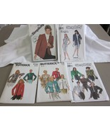 5 PC VINTAGE SIZE 14 MISSES WOMENS LINED JACKET UNLINED JACKET SEWING PA... - $7.99