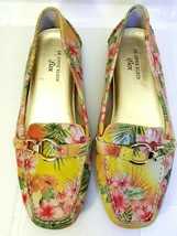 Anne Klein Iflex Women's AKGRANDLY Driving Moc Loafers Shoes Size 9.5M Floral  - $29.68