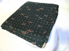 "100% COTTON GREEN FABRIC WITH DUCK MOTIF 9 YARDS + 7"" X 44"" W - $48.00"