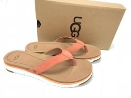 UGG Australia Lorrie Suede Sandals 1092271 Fusion Coral Flip Flops Thongs - $69.99