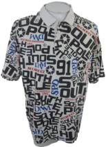 """SouthPole Men Shirt POLO pit to pit 25"""" sz XL Wicked Fashions spellout v... - $34.64"""