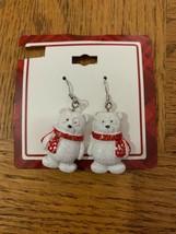 Vintage Christmas Polar Bear Earrings - $18.50