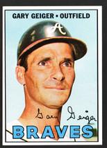 1967 Topps #566 Gary Geiger Braves Hi# NrMt-Mt Nice! - $12.60