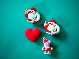 Clog Shoe Charm For  Accessories Fits  Wristband Bracelet Santa Heart - $8.99