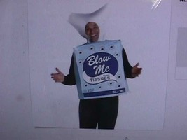 New Blow Me Tissues Box Adult Halloween Costume One Size Fits Most - $22.28