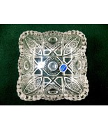 Imperial Square Glass Dish, Vintage 1982 Mark, Starbursts & Lines, Sawto... - $24.45