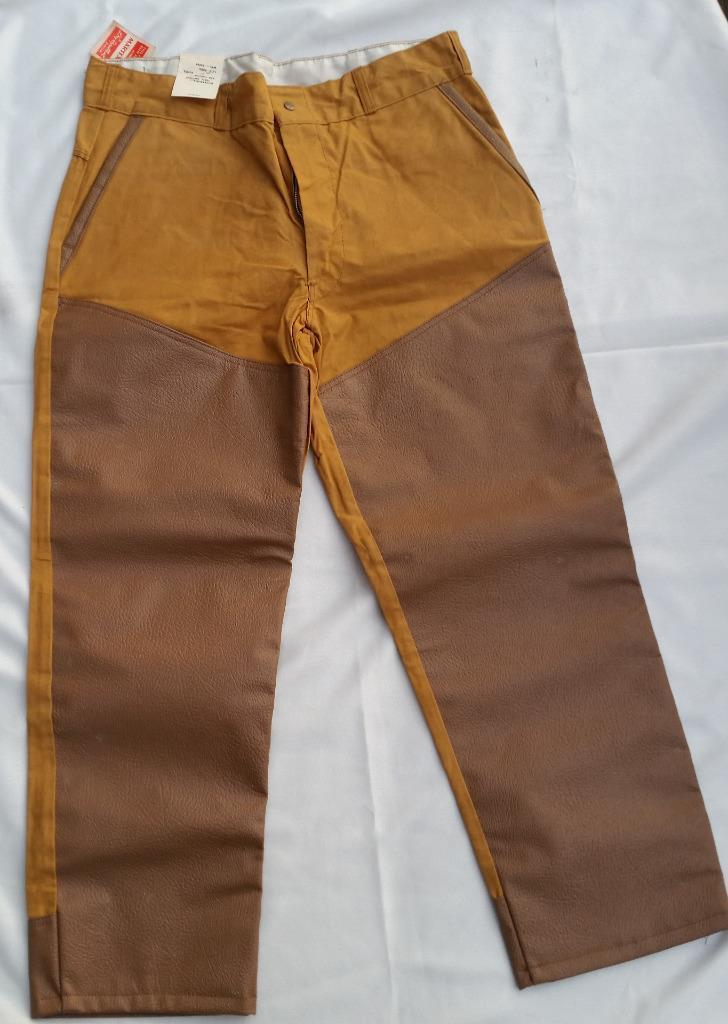 Vintage NOS Montgomery Wards Western Field Vinyl Faced Duck Hunting Pants Sz 38