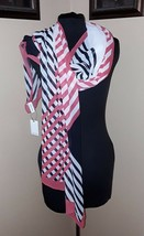 NEW CALVIN KLEIN Red White Black Scarf MSRP $38 NWT - €14,97 EUR
