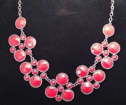 New Cookie Lee Necklace w/ Chains Beads and Glittery Crystals - $12.69