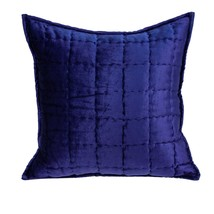 Parkland Collection Augusta Transitional Royal Blue Solid Quilted Pillow... - $56.08