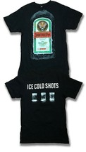 """JAGERMEISTER - """"ICE COLD SHOTS"""" BOTTLE LABEL T-SHIRT *NEW* / SIZE L - $14.16"""
