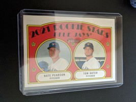 2021 Topps Heritage Rookie Stars RC MINT Nate Pearson Tom Hatch Blue Jays - $8.99