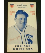 1942 Chicago White Sox Player Roster WAR ISSUE Buy Defense Bond & Stamps... - $88.11