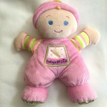 Fisher Price Babys 1st First Doll Soft Plush Pink Rattle Lovey Blonde Bl... - $12.99
