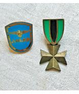 VINTAGE GERMANIC Iron CROSS PIN BROOCH shield JJ Eagle Adler Lot War Ger... - $18.42