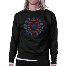 Liberty & Justice Unisex Graphic Sweatshirt Black Crewneck Pullover - $20.99+