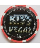 KISS Vegas! $5 @ Hard Rock Hotel Las Vegas NV Casino Chip - $14.95