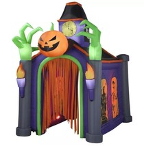 Animatronic Lighted Musical Haunted House Halloween Inflatable 10.5 Ft X... - $339.95
