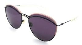 Christian Dior Sunglasses Dioround O3OC6 57-18-140 Blue Pink Gold / Dark... - $118.19