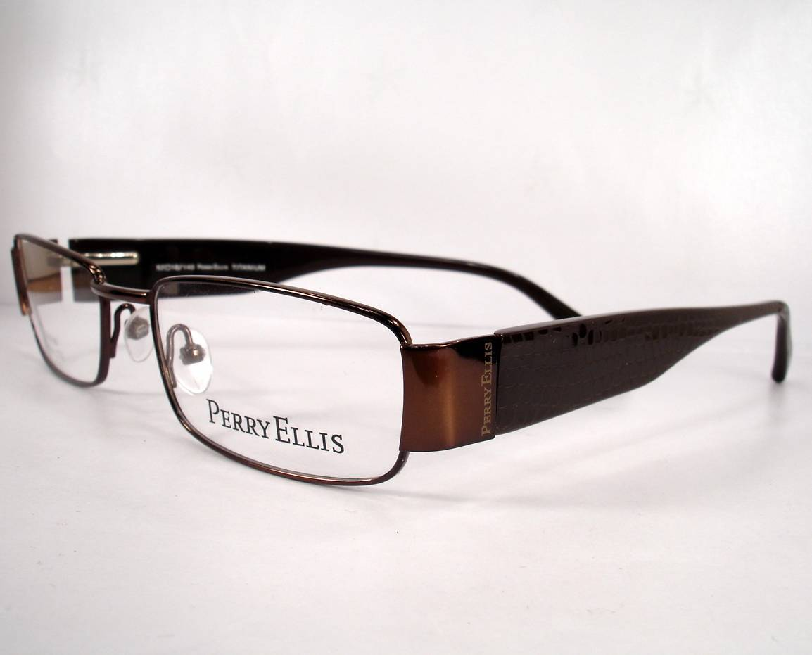 436e687ed1d Perry Ellis 930T Brown 2 Titanium Ultra Lite Men New Eyeglasses Frames  Eyewear -  89.09