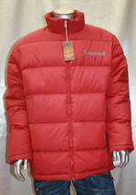Men's Timberland Burgundy Puffy Jacket - $124.60
