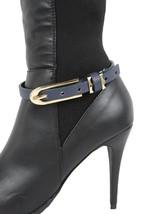 Donna Stivali Bracciale Moda Ciondoli per Scarpe Blu Navy Cinturino in E... - $29.32
