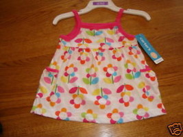 Carter's pullover tank top shirt flowers infant baby girl NWT 12 Month N... - $8.45