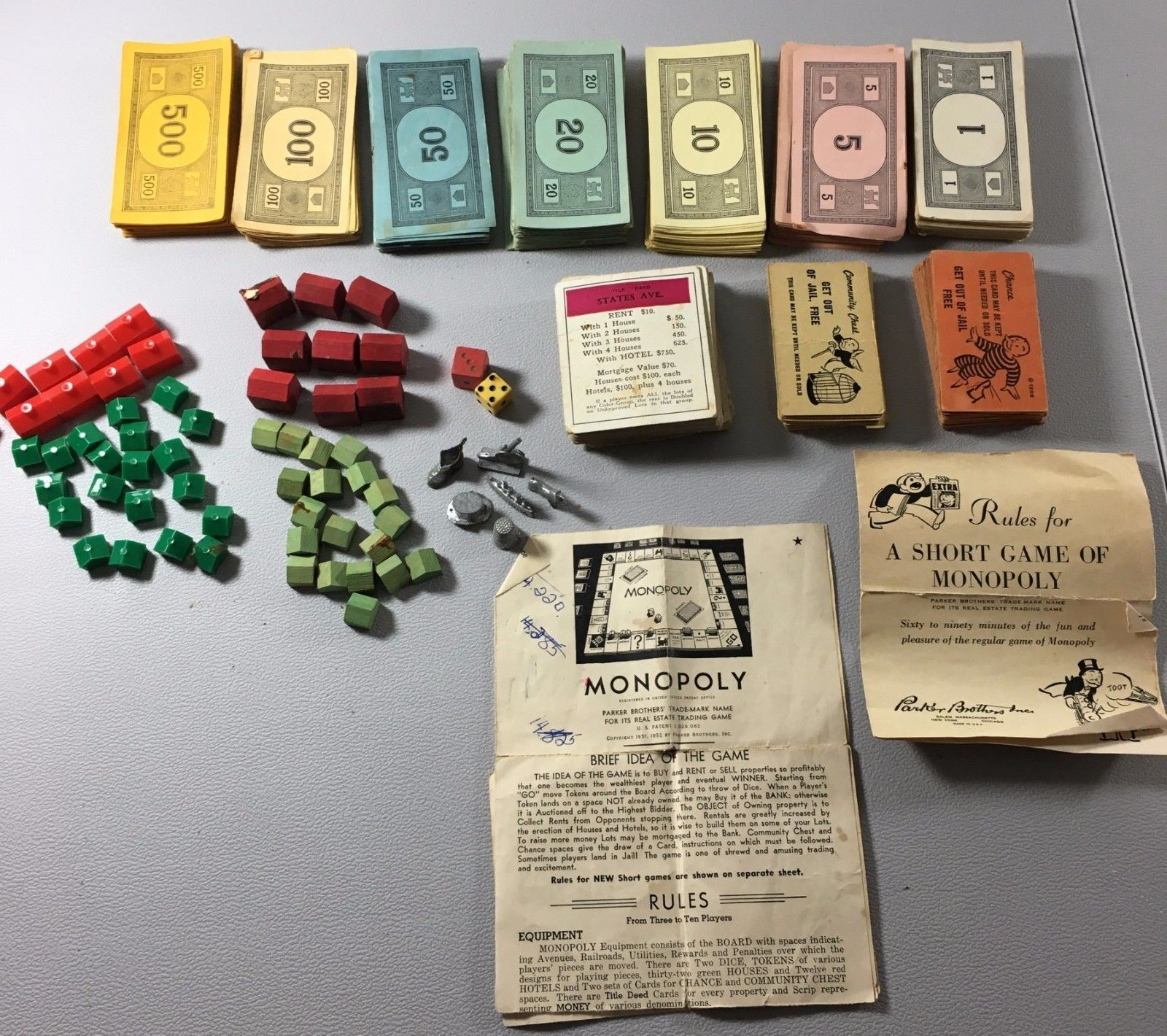 Vintage Monopoly Wood Plastic Houses Hotels And 50 Similar Items