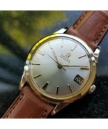 Da Uomo OMEGA 1960s 34mm cal.560 10k Gold Filled Data Automatic Svizzero Vintage - $1,633.97