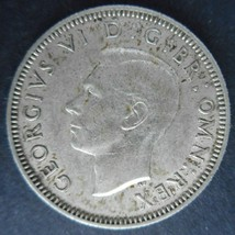 Great Britain, 1941 Shilling, English crest, About Uncirculated - $12.00