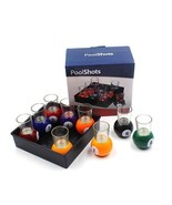 9Pcs Snooker Whisky Wine Beer Cup Billiards Shape Glass - $66.75