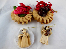 Hawaiian Christmas  Ornaments made in Hawaii dried flower Wreaths corn h... - $13.85